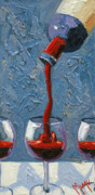Pouring Painting Prints - The Pour Right Print by Christopher Mize