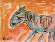 Primitive Drawings - The Power Horse by Mary Carol Williams