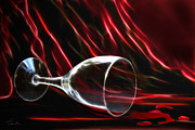 Wine Pour Digital Art Posters - The power of red Poster by Danuta Bennett