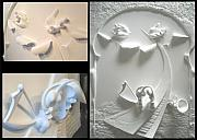 Music Reliefs - The power of sound---plaster by Octavian Florescu
