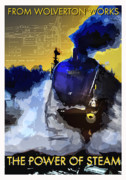 Milton Keynes Prints - The Power of Steam Print by Zbigniew Rusin