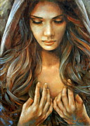 Nudes Paintings - The prayer by Arthur Braginsky