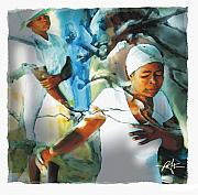 Women Mixed Media - The Prayer Tree Haiti by Bob Salo
