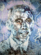 Spiritual Drawings Photos - The President Barack Obama  by Bers Grandsinge