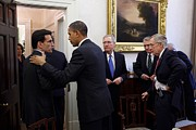 Group Portraits Framed Prints - The President Talks With Republican Framed Print by Everett