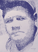 Babe Ruth Drawings Posters - The Pride of the Yankees Poster by Robbi  Musser