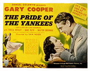 Movie Posters Framed Prints - The Pride Of The Yankees, Veloz Framed Print by Everett
