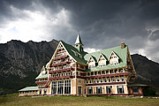 Historic Site Posters - The Prince of Wales Hotel Waterton Lakes NP  Poster by Teresa Zieba