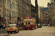 Princes Photo Posters - The Princes Street in Edinburgh. Scotland Poster by Jenny Rainbow