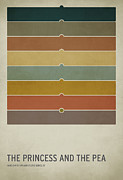 Minimalist Art Posters - The Princess and the Pea Poster by Christian Jackson