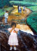 Nicaragua Paintings - The Princess and the Puddle by Sarah Hornsby