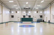 Basketball Sports Prints - The Prison Gym And Basketball Court Print by Roberto Westbrook