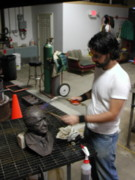 Brown Sculptures - The process of patinating by John Gibbs