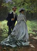 The Glade Posters - The Promenaders Poster by Claude Monet