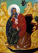 Byzantine Greek Icon Originals - The Prophet Elijah by Joseph Malham