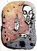 Figure Mixed Media - The Prophet Too by Mark M  Mellon
