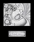 Religious Art Drawings Prints - The Prophetic Intercessor Print by Amy Parker