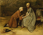 Engagement Painting Prints - The Proposal Print by John Pettie