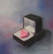 Kristine Kainer Paintings - The Proposal by Kristine Kainer