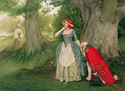 Courtship Posters - The Proposal Poster by Sir James Dromgole Linton