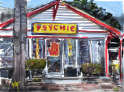 Oceanside California Posters - The Psychic Poster by Russell Pierce