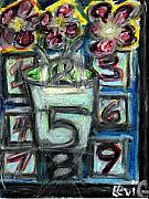 Live Art Pastels Prints - The Psychic Telephone Print by Levi Glassrock