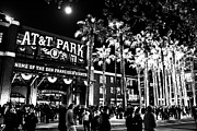 Att Baseball Park Framed Prints - The Public House BW Framed Print by Rick DeMartile