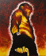 Sports Art Painting Originals - The Pugilist by Brian Carlton
