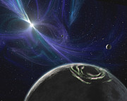 Pulsar Prints - The Pulsar Planet System Print by Stocktrek Images