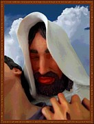 Christ Face Posters - The Purpose - Luke 19 Ten Poster by Glenn McCarthy Art and Photography