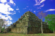 Siem Reap Posters - The Pyramid Poster by MotHaiBaPhoto Prints