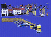 Seagull Drawings Metal Prints - The Quay Metal Print by Lynn Blake-John