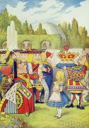 Hearts Paintings - The Queen has come and isnt she angry by John Tenniel