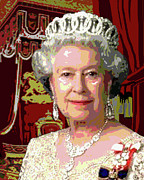 Tiara Paintings - The Queen by Jann Paxton