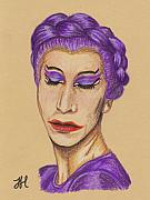 Drag Drawings - The Queen by Jean Haynes