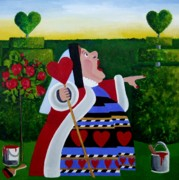 Anni Morris Art - The Queen of Hearts by Anni Morris