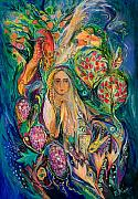 Hebrew Paintings - The Queen of Shabbat by Elena Kotliarker