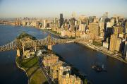 City Streets Photos - The Queensborough Bridge, Roosevelt by Michael S. Yamashita