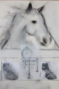 The Horse Pastels Prints - The Question Of The Horseshoe Print by Thomas Scheibal