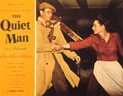 Trenchcoat Framed Prints - The Quiet Man, John Wayne, Maureen Framed Print by Everett