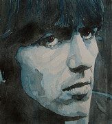 Fab Four  Paintings - The quiet one by Paul Lovering