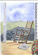 Clapboard House Framed Prints - The Quiet Rocker Framed Print by Jane Croteau