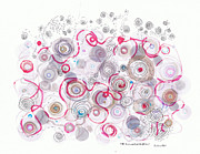 Valluzzi Drawings Prints - The quiet Whorls of Melancholy Print by Regina Valluzzi