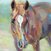 Chestnut Horse Paintings - The R Man Cometh by Kimberly Santini