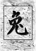 Dog Print Pyrography Prints - The Rabbit  Print by Mauro Celotti