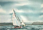 Sailing Paintings - The Race by Gale Cochran-Smith