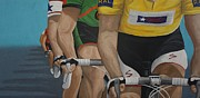 Cyclists Paintings - The Race by Jennifer Lynch