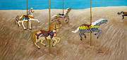 Carousel Painting Originals - The Race by Linda Krider Aliotti