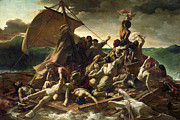 Naked Metal Prints - The Raft of the Medusa Metal Print by Theodore Gericault
