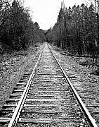 R J Ruppenthal Metal Prints - The Rail Line Metal Print by R J Ruppenthal